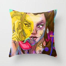 Oktapodi Throw Pillow