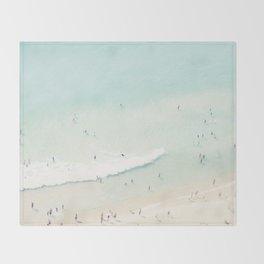 beach summer fun Throw Blanket