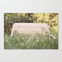 write Canvas Prints featuring write. by lalubean