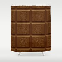 bar Shower Curtains featuring Chocolate Bar by Screen Candy