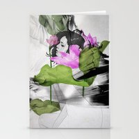 lotus Stationery Cards featuring Lotus by SEVENTRAPS