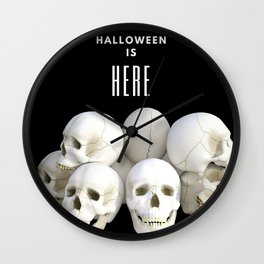 Halloween Is Here Wall Clock
