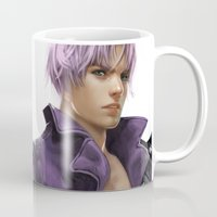 dragonball Mugs featuring Trunks by KlsteeleArt