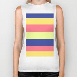 Modern rainbow neon colors color block stripes Biker Tank