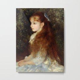 Pierre-Auguste Renoir - Portrait of Mademoiselle Irène Cahen d'Anvers Metal Print