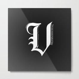 Letter V Metal Print