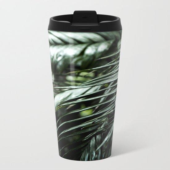 Tropical leaves 03 Metal Travel Mug