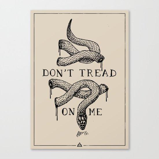 don't tread on me Canvas Print
