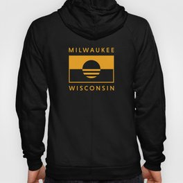 Milwaukee Wisconsin - Gold - People's Flag of Milwaukee Hoody
