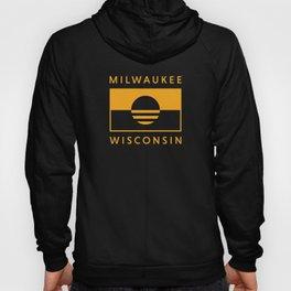 Milwaukee Wisconsin - Gold - People's Flag of Milwaukee Hoody
