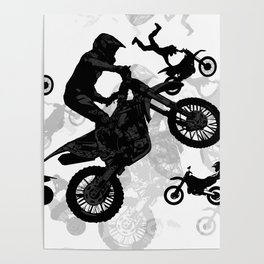 High Flying Stuntmen - Motocross Riders Poster