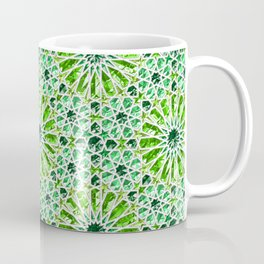 Geometric gemstones (emerald) Coffee Mug