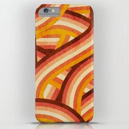 Vintage Orange 70's Style Rainbow Stripes iPhone Case