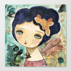 Charity Wings Watercolor Collage Canvas Print
