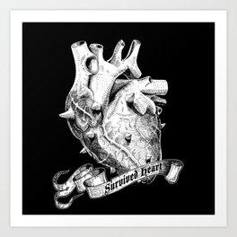 Survived Heart Art Print