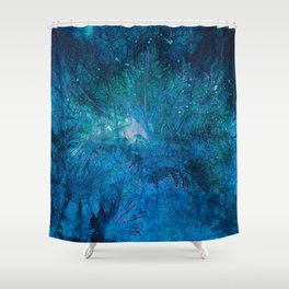 Spirits of Forest in nature at night Shower Curtain