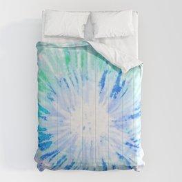 Tie dye blue Comforters