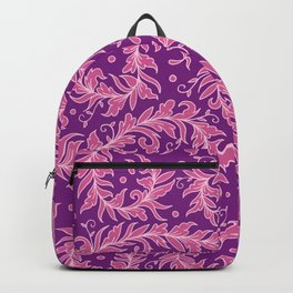 Lacy Leaves Purple Backpack