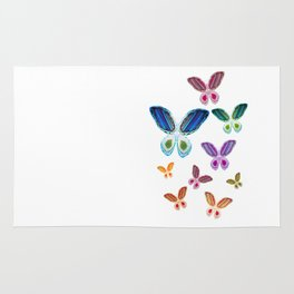 A Rainbow of Agate Butterflies Rug