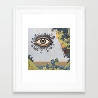 third eye Framed Art Prints featuring Third Eye  by CUTS