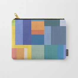 Blue Rainbow Gradient Carry-All Pouch