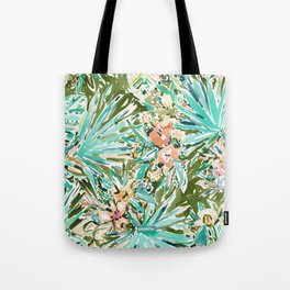 FAN OUT Tropical Palmetto Floral Tote Bag