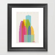 Shapes of Detroit Framed Art Print