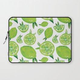 Zesty Lime Pattern Laptop Sleeve