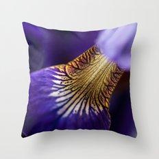 Iris Hourglass Throw Pillow