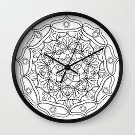 Mandala black 2 Wall Clock