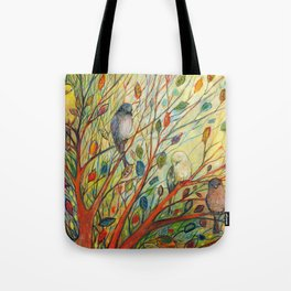 Waiting in a Rainbow Tree Tote Bag