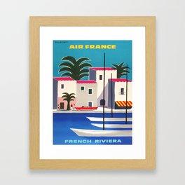 Vintage poster - French Riviera Framed Art Print