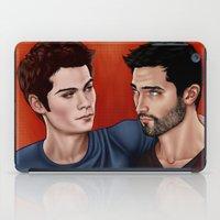 derek hale iPad Cases featuring Stiles Stilinski and Derek Hale - Nothing Rhymes With Orange by xKxDx