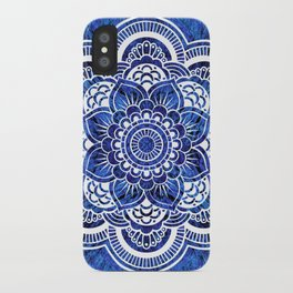 Mandala Blue Colorburst iPhone Case
