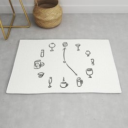 Watches, glasses and mugs Rug