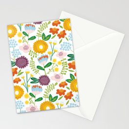 garden at the backyard Stationery Cards