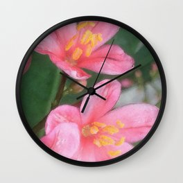 Key West Pink Wall Clock