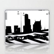 City Scape in Black and White Laptop & iPad Skin