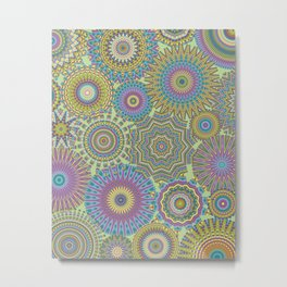 Kaleidoscopic-Jardin colorway Metal Print