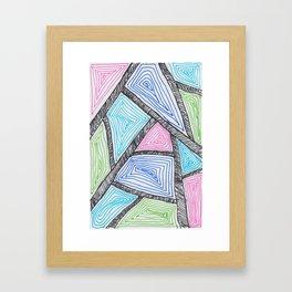 neon crystal Framed Art Print