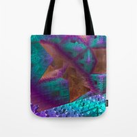 brave Tote Bags featuring Brave by Fractalinear