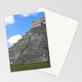 Chichen Itza Temple of Kukulcan south-west View Stationery Cards
