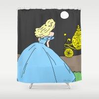 cinderella Shower Curtains featuring Cinderella by RaJess