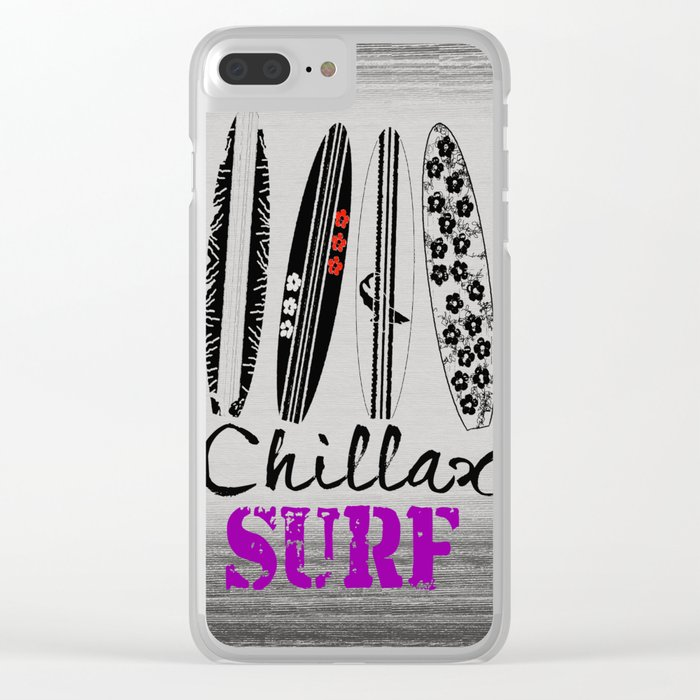 Chillax Surf Clear iPhone Case