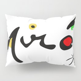 Joan Miro Colorful Signature Artwork for Prints Posters Tshirts Bags Women Men and Kids Pillow Sham
