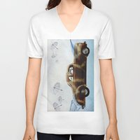 drive V-neck T-shirts featuring DRIVE by Jerzy Jachym