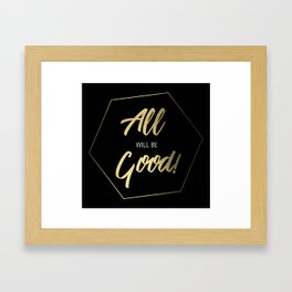 Inspiring Gift Ideas for Entrepreneurs #5 - Gold on Black Framed Art Print