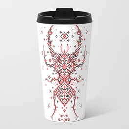 Stag Beetle Ornament Travel Mug