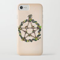 pentagram iPhone & iPod Cases featuring PENTAGRAM GARLAND by Dianah B