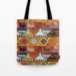Dena in Red and Gold Tote Bag